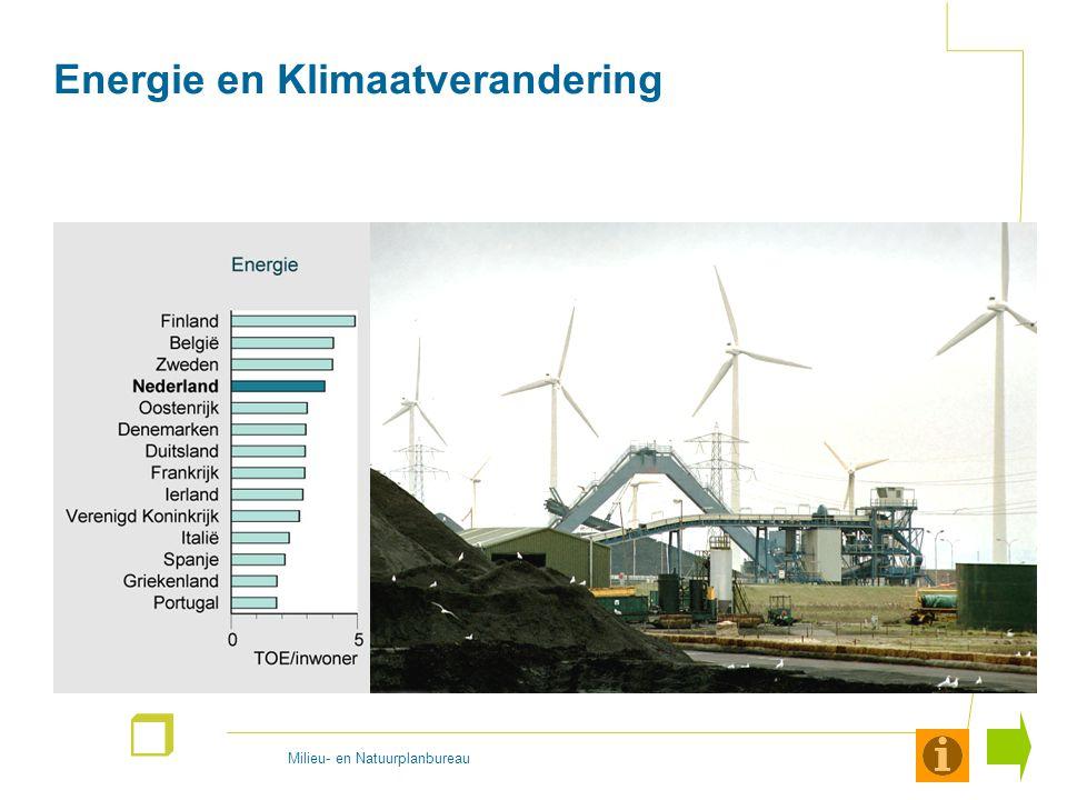 Milieu- en Natuurplanbureau r Energie en klimaatverandering Het eerste thema dat kort wordt besproken is energie en klimaatverandering.