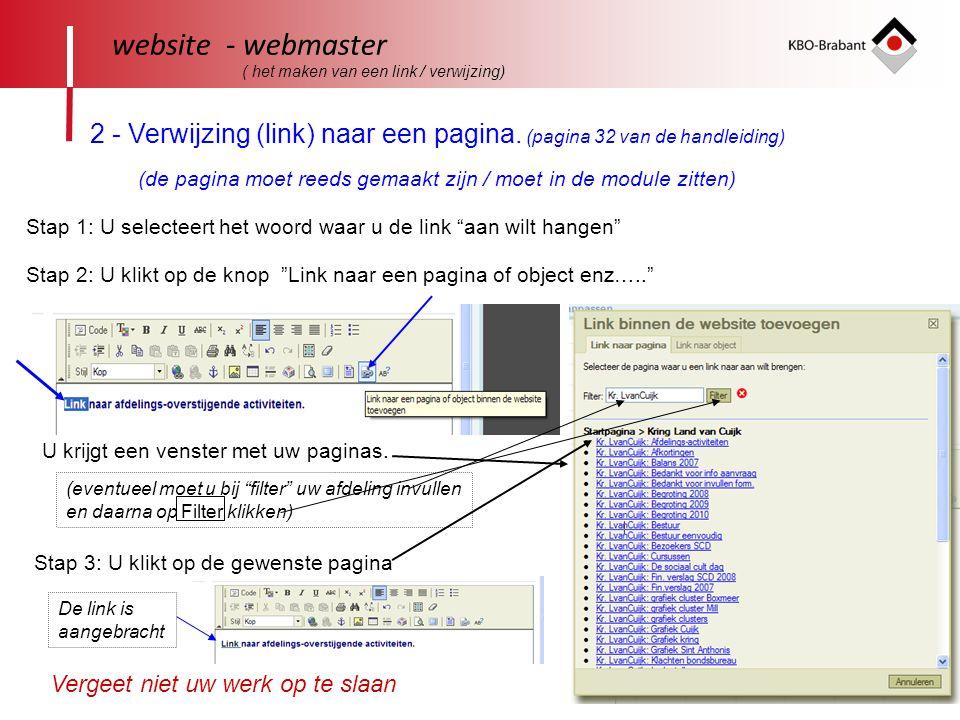 40 website - webmaster ( het maken van een link / verwijzing) 2 - Verwijzing (link) naar een pagina.