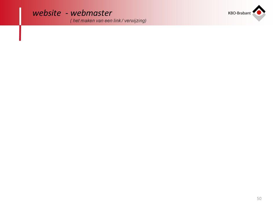 50 website - webmaster ( het maken van een link / verwijzing)