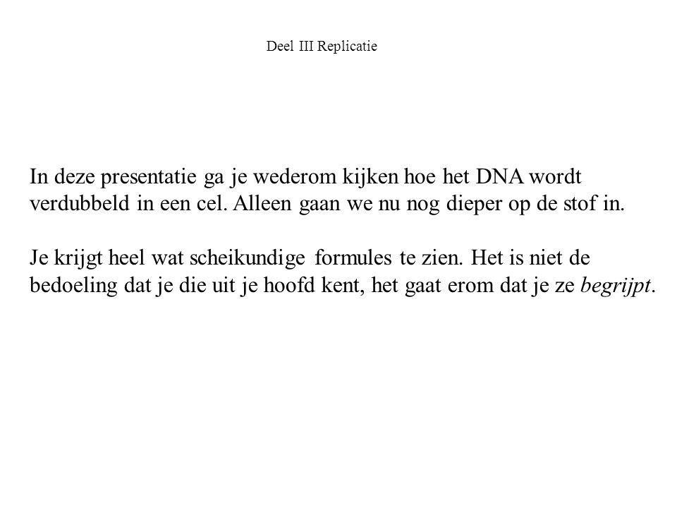 In deze presentatie ga je wederom kijken hoe het DNA wordt verdubbeld in een cel. Alleen gaan we nu nog dieper op de stof in. Je krijgt heel wat schei