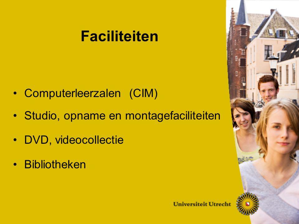 Computerleerzalen (CIM) Studio, opname en montagefaciliteiten DVD, videocollectie Bibliotheken Faciliteiten