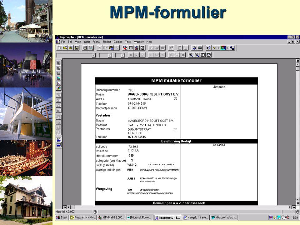 MPM-formulier