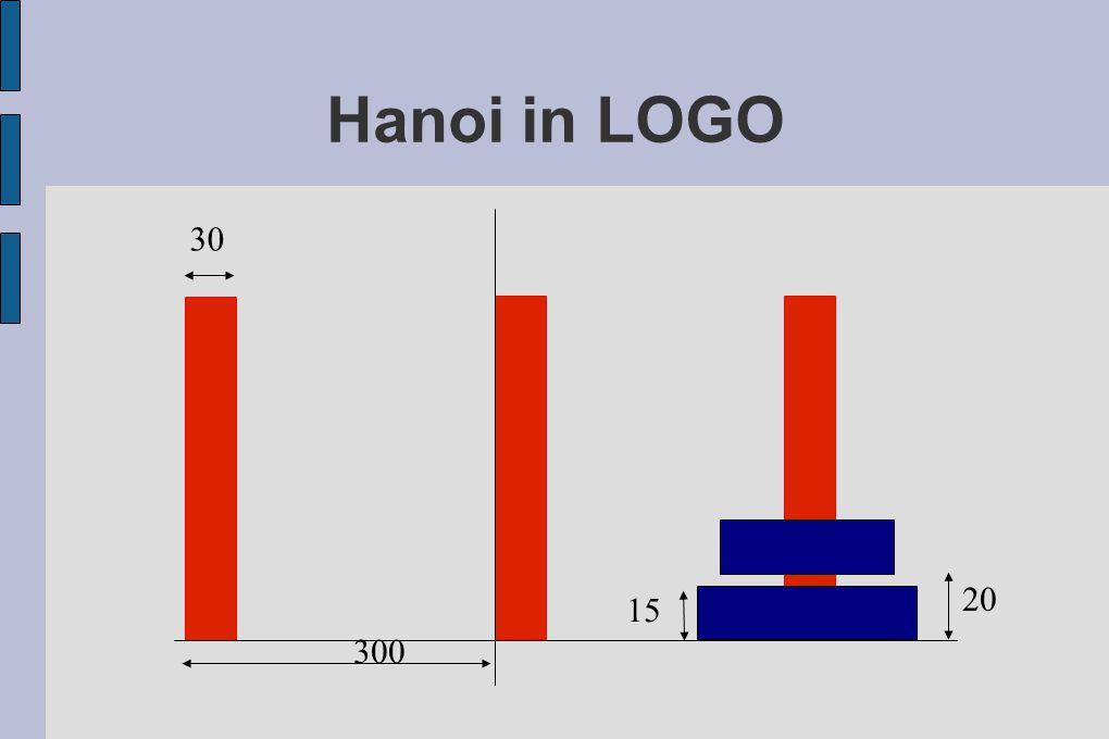 Hanoi in LOGO 300 20 30 15