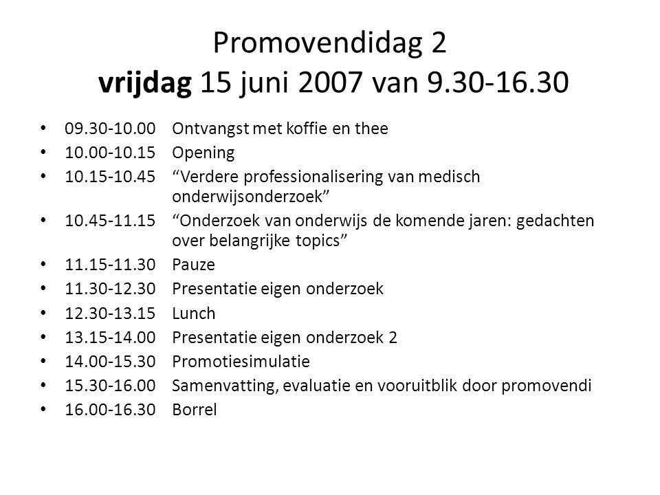 Promovendidag 2