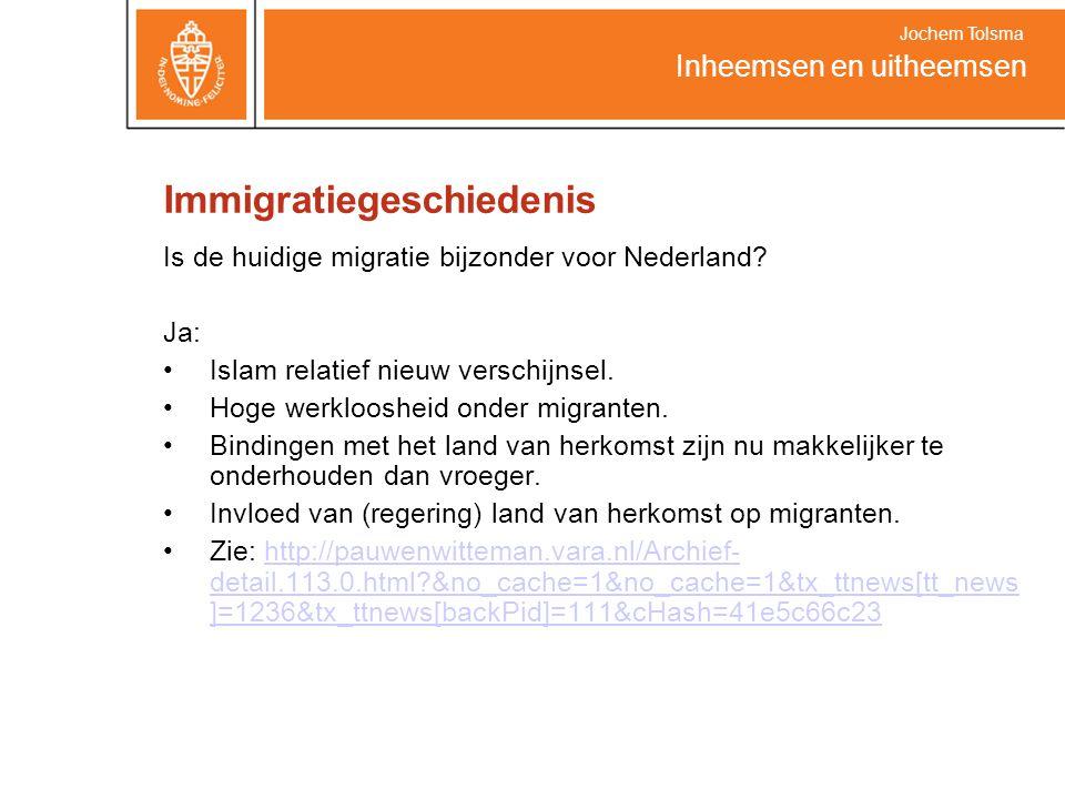 Immigratiegeschiedenis Is de huidige migratie bijzonder voor Nederland.