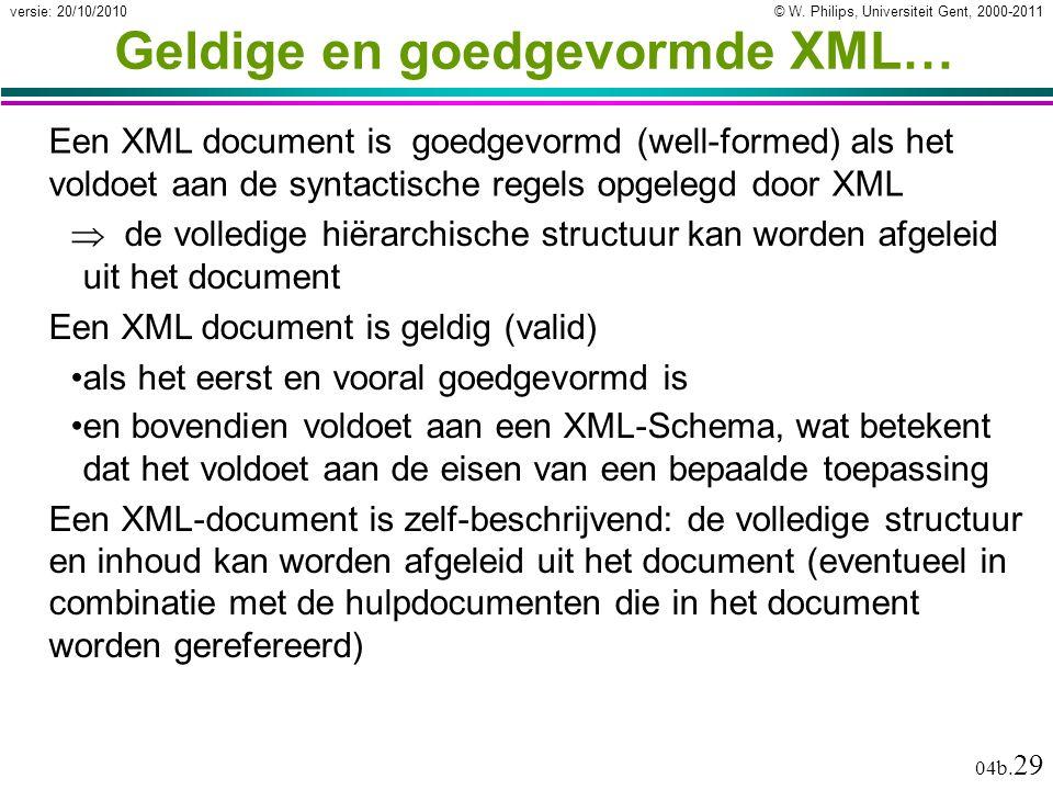 © W.Philips, Universiteit Gent, 2000-2011versie: 20/10/2010 04b.