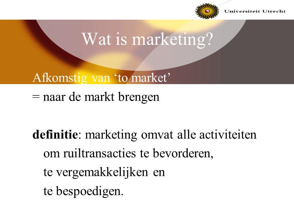 Even kennismaken Docent Commerciële Economie: Peter van der Meer p.vandermeer@econ.uu.nl