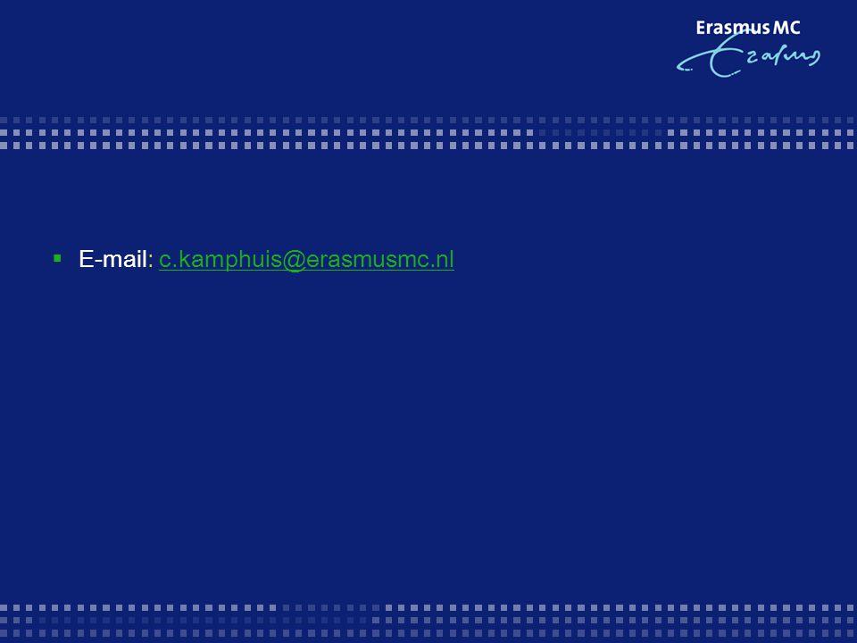  E-mail: c.kamphuis@erasmusmc.nlc.kamphuis@erasmusmc.nl