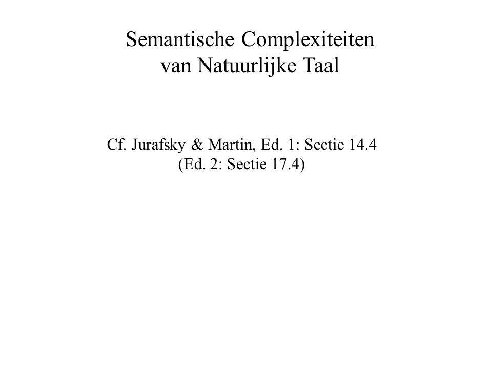 Semantische Complexiteiten van Natuurlijke Taal Cf.