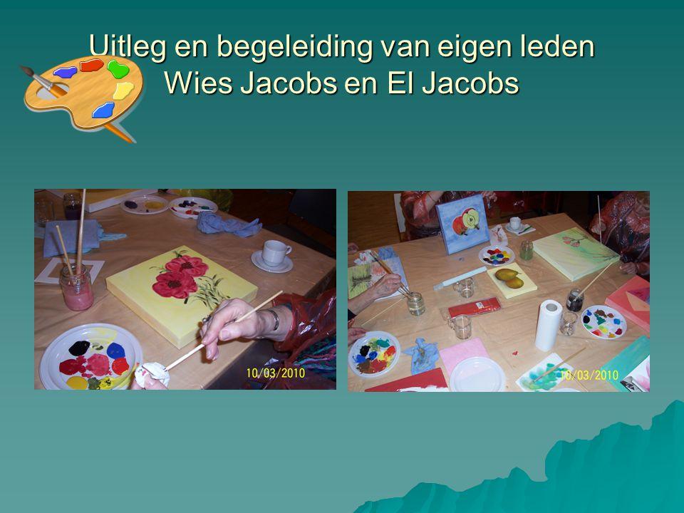 Uitleg en begeleiding van eigen leden Wies Jacobs en El Jacobs