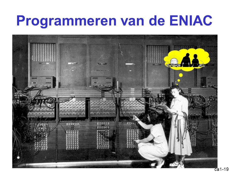 ca1-19 Programmeren van de ENIAC