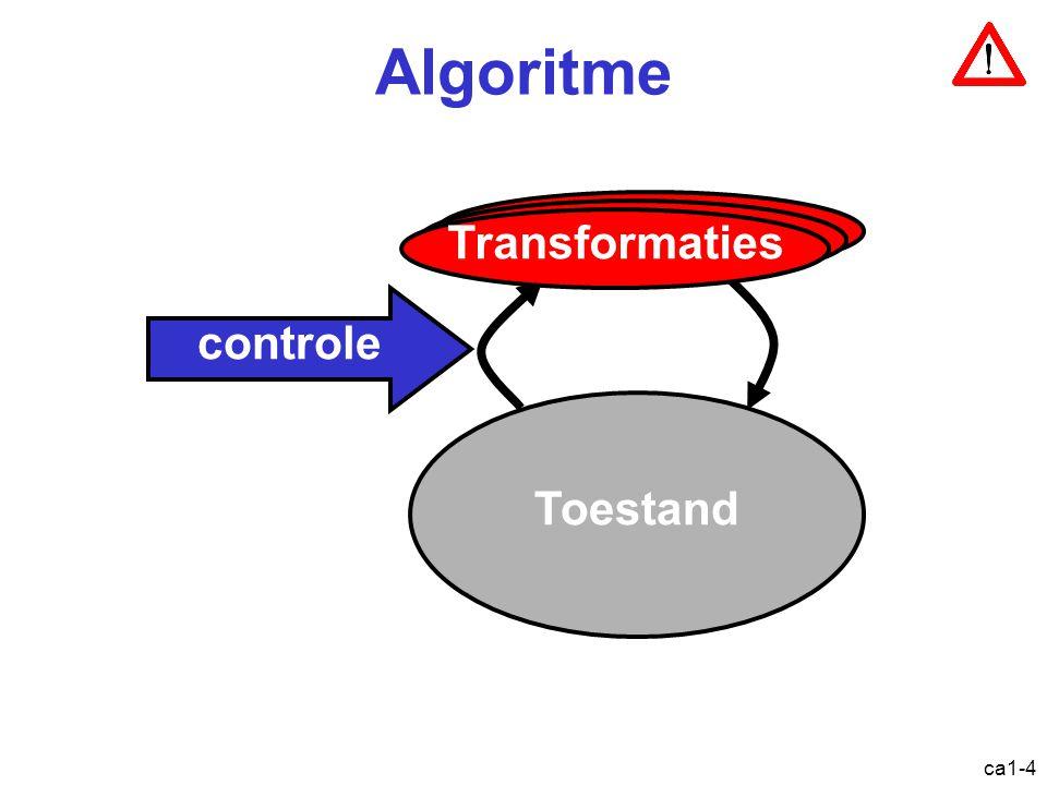 ca1-35 Overzicht Een beetje geschiedenis Het von Neumann model –Logisch zicht –Fysiek zicht Abstractieniveaus in computersystemen Architectuur vs.