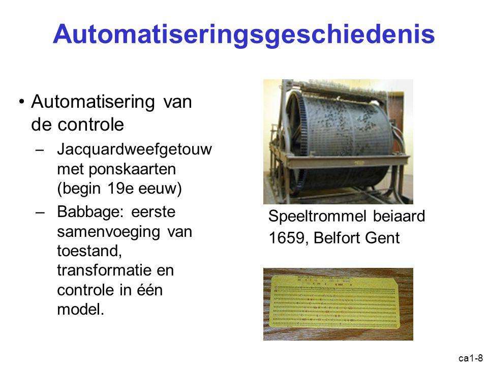 ca1-9 The difference engine Charles Babbage (1791-1871) 1822- 6 decimalen Eenvoudige wiskundige bewerkingen http://www.youtube.com/watch?v=BlbQsKpq3Ak http://www.youtube.com/watch?v=0anIyVGeWOI