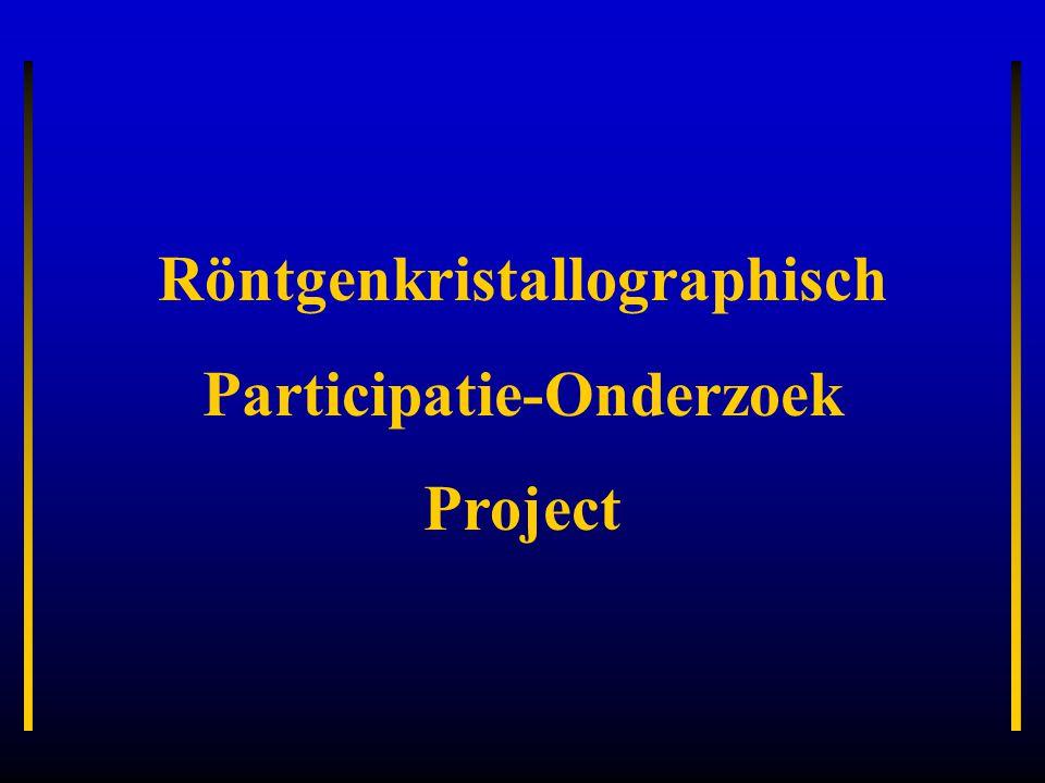 Röntgenkristallographisch Participatie-Onderzoek Project