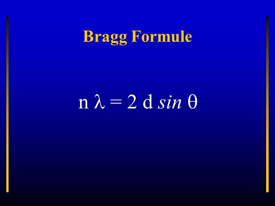 Bragg Formule n = 2 d sin 