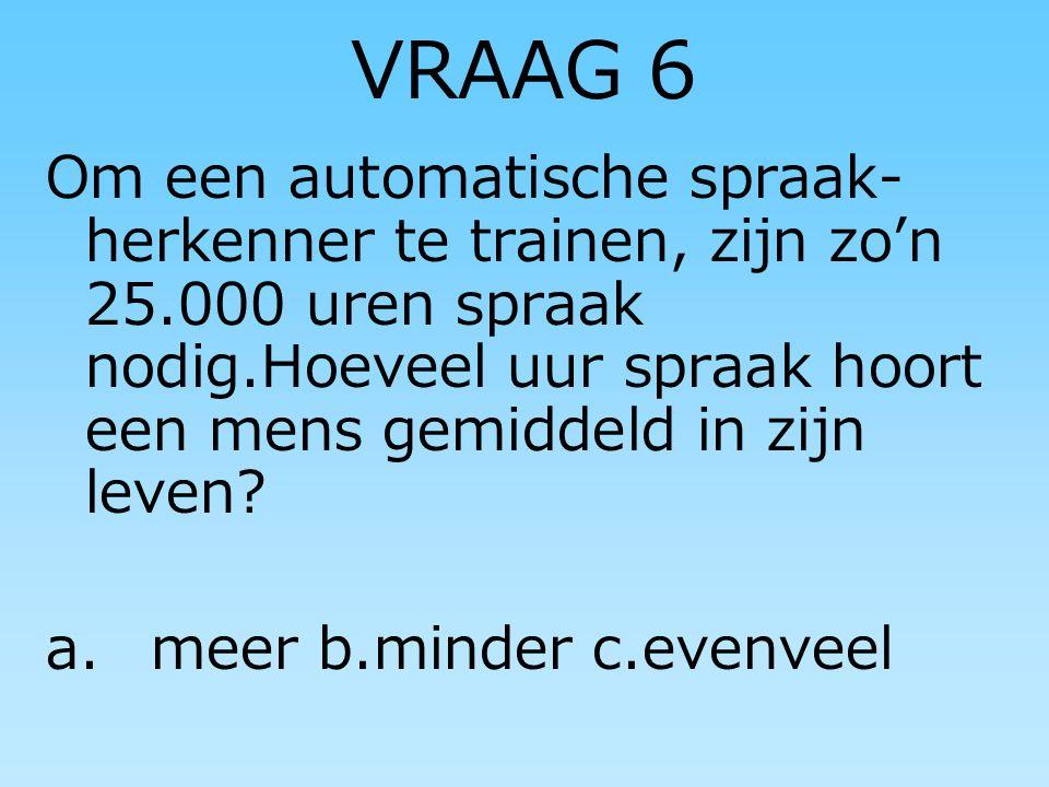 VRAAG 5 a)HOEVEEL FINNEN WONEN ER IN NEDERLAND b) WELKE FINSE KLANK HOORT U NU t of t: