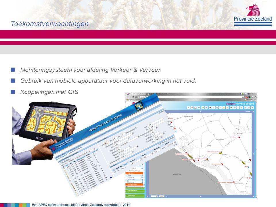 Monitoringsysteem voor afdeling Verkeer & Vervoer Gebruik van mobiele apparatuur voor dataverwerking in het veld. Koppelingen met GIS Toekomstverwacht