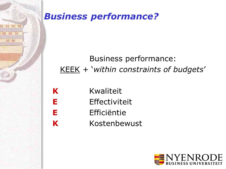 Business performance.