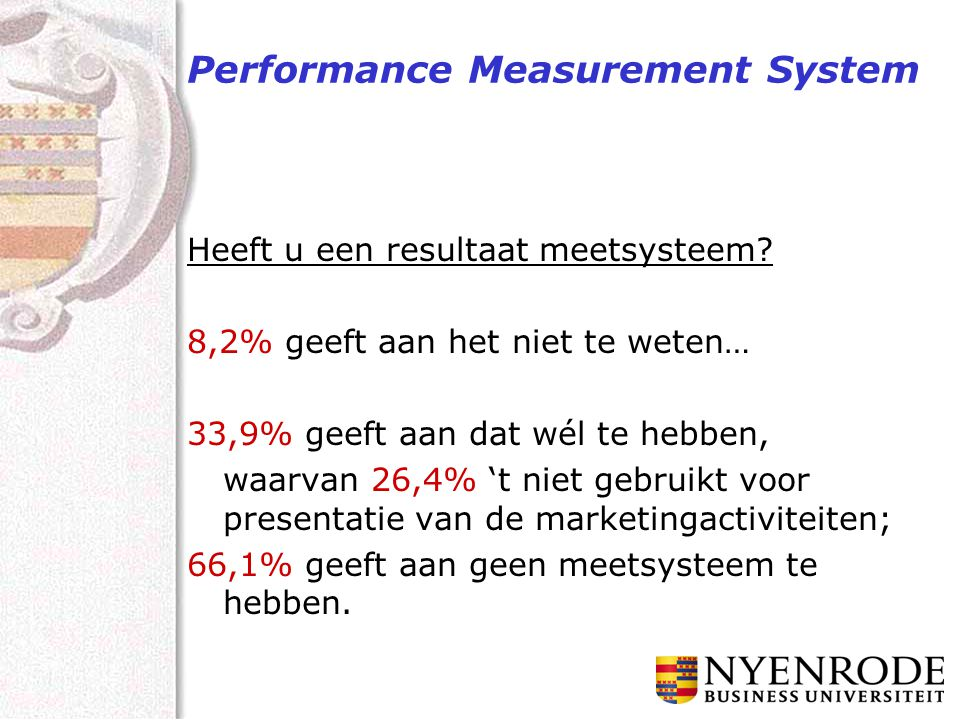 Performance Measurement System Heeft u een resultaat meetsysteem.