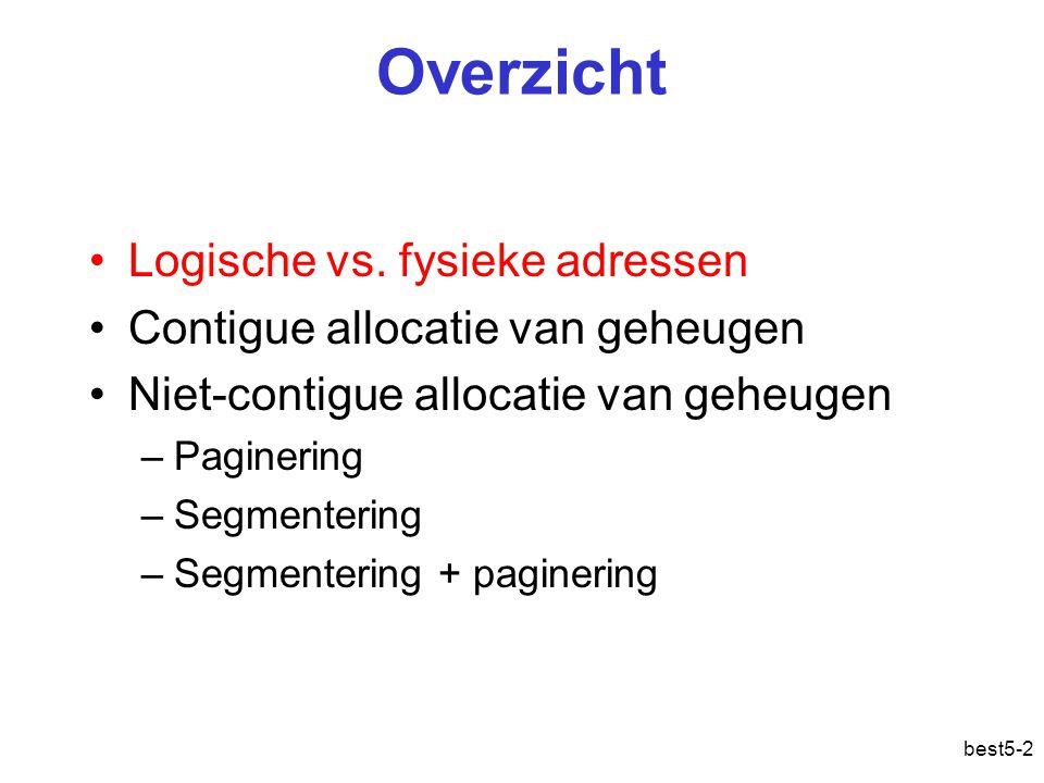 best5-3 Geheugenbeheerprobleem Fysiek geheugen 0 N 0 0 N1 N2 .