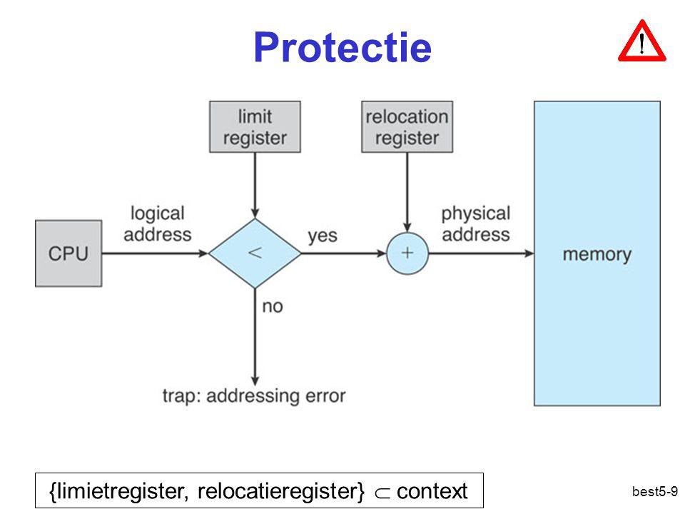 best5-9 Protectie {limietregister, relocatieregister}  context Geheugenbeheer: protectie
