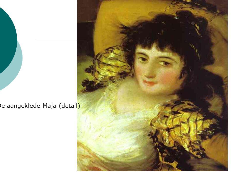 De aangeklede Maja (detail)
