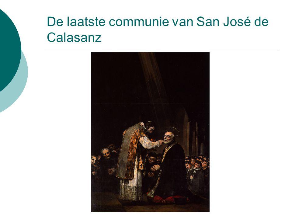 De laatste communie van San José de Calasanz