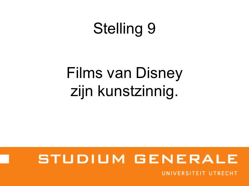 Stelling 9 Films van Disney zijn kunstzinnig.
