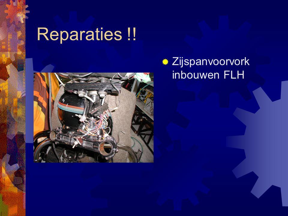 Reparaties !!  Zijspanvoorvork inbouwen FLH