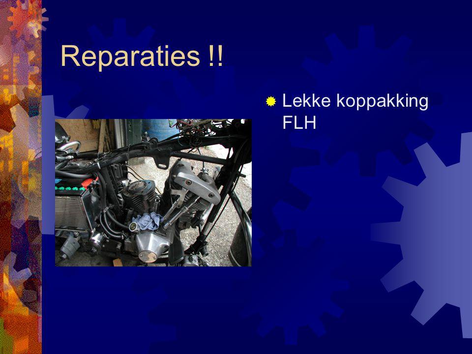 Reparaties !. Wiel eruit meteen schoonmaken.