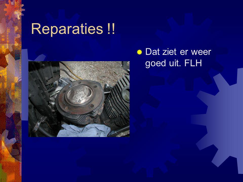 Reparaties !!  Bak eraf.FLH