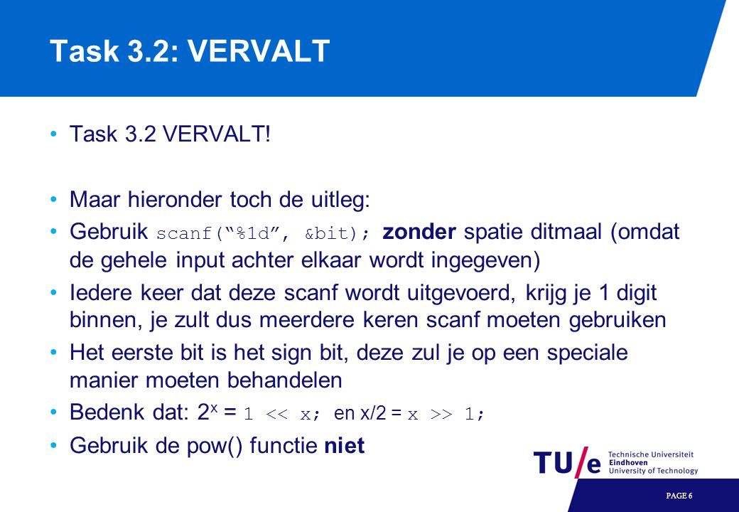 Task 3.2: VERVALT Task 3.2 VERVALT.