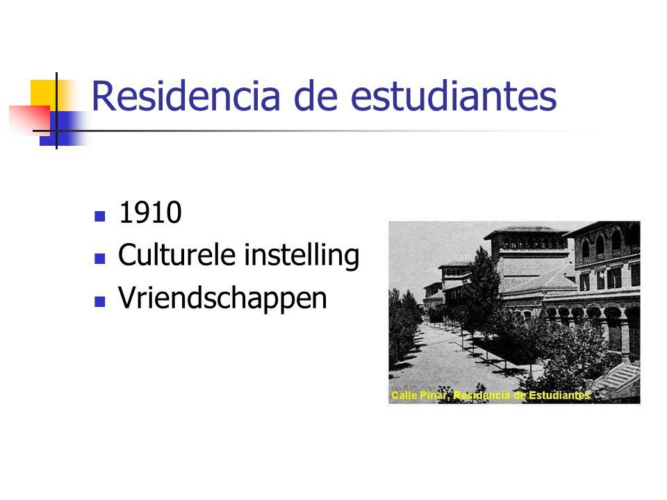Residencia de estudiantes 1910 Culturele instelling Vriendschappen
