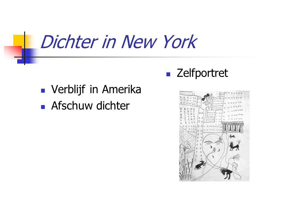 Dichter in New York Verblijf in Amerika Afschuw dichter Zelfportret