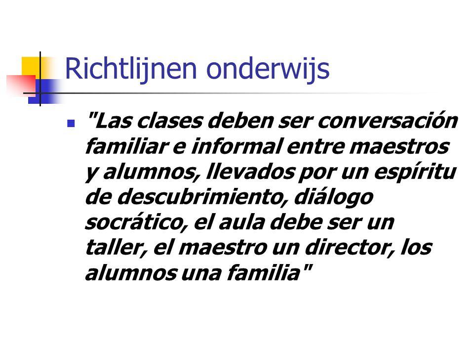 Statuten Instituto geen religieuze of ideologische interesse, geen politieke partij vrijheid van leerstoel, onaantastbaarheid wetenschap, respect individueel geweten pedagogische idealen