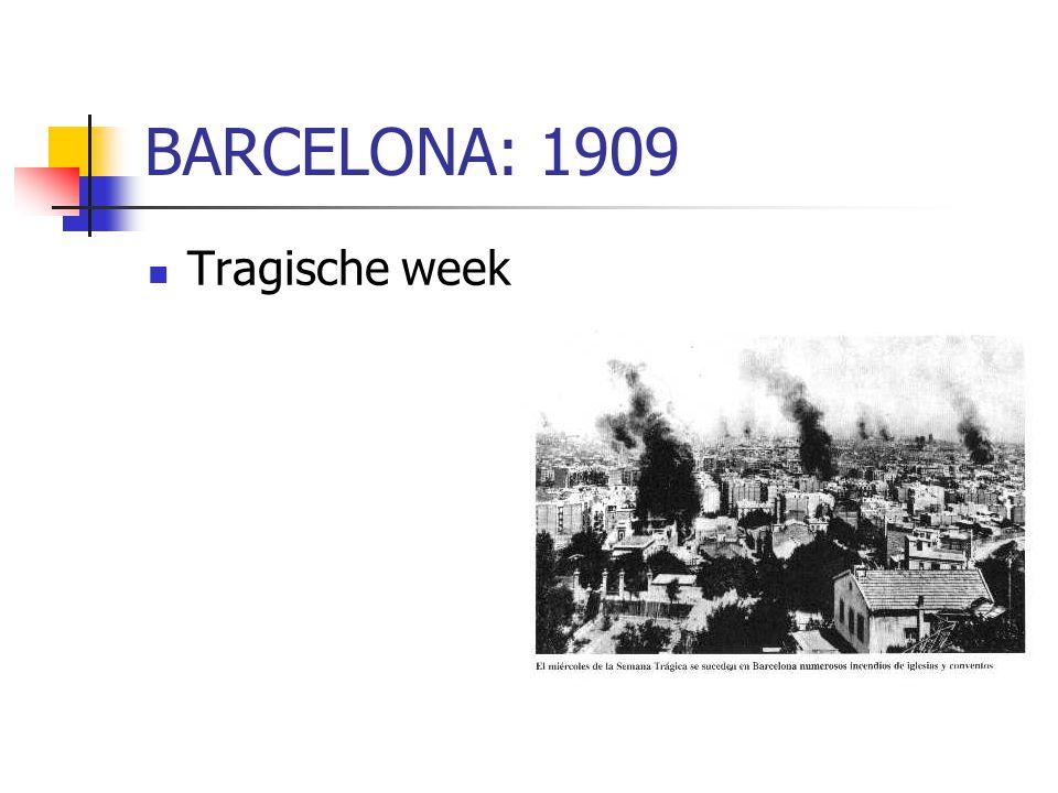 BARCELONA: 1909 Tragische week