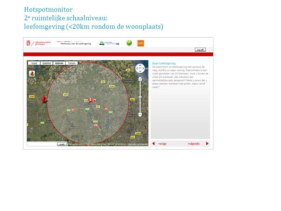 Hotspotmonitor 2 e ruimtelijke schaalniveau: leefomgeving (<20km rondom de woonplaats)