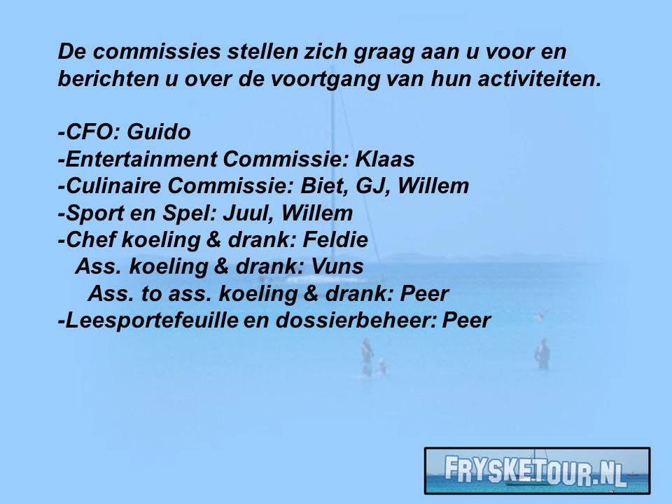 De commissies stellen zich graag aan u voor en berichten u over de voortgang van hun activiteiten.