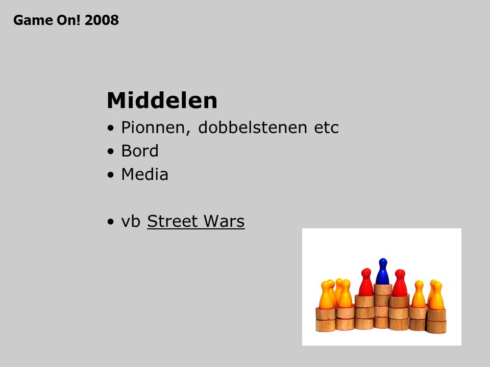 Middelen Pionnen, dobbelstenen etc Bord Media vb Street WarsStreet Wars Game On! 2008