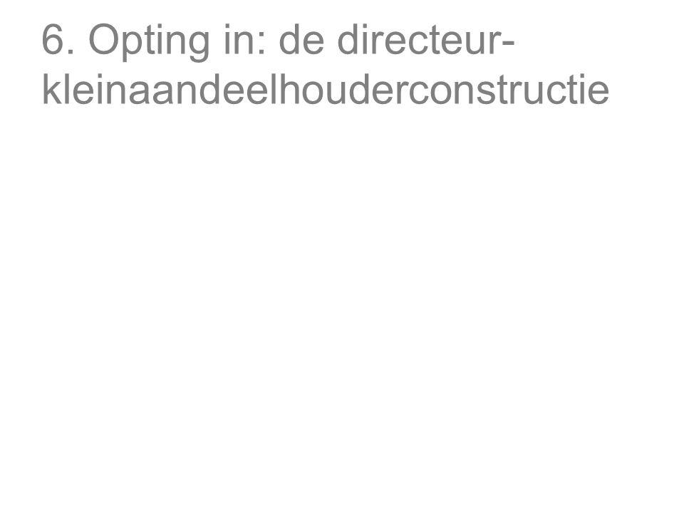 6. Opting in: de directeur- kleinaandeelhouderconstructie