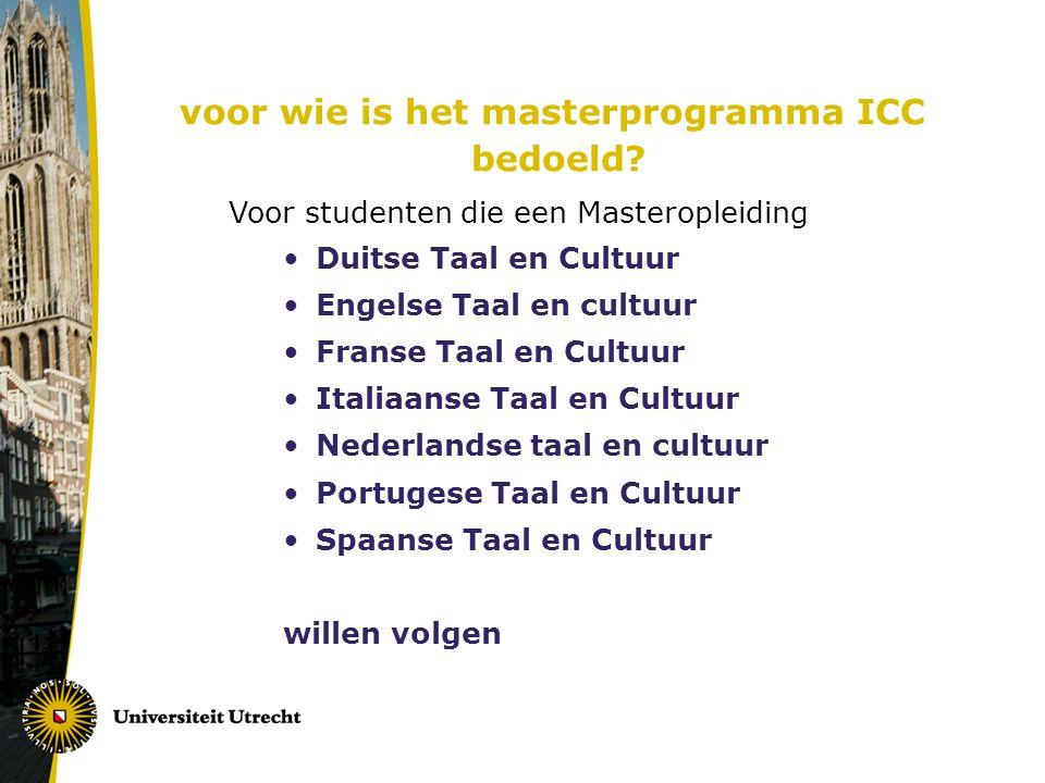 Afstudeertraject (30 ECTS) Keuze onderdelen : een stage (in het buitenland of in Nederland), een cursus, een leeronderzoek