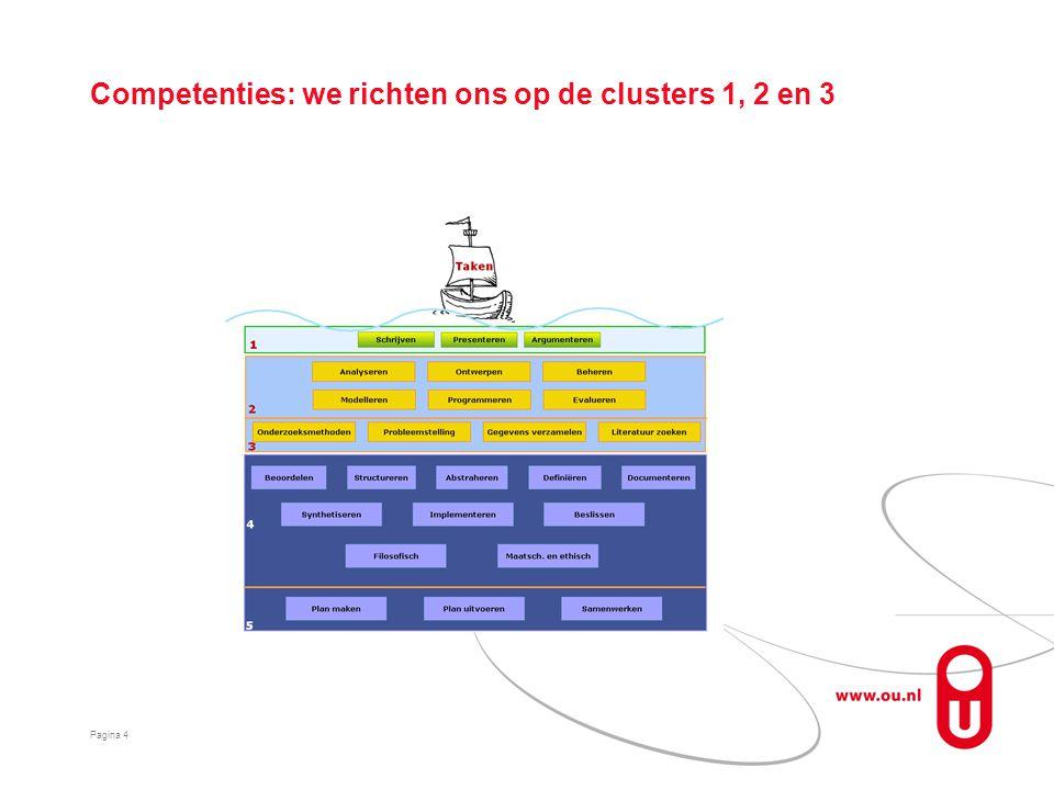 Competenties: we richten ons op de clusters 1, 2 en 3 Pagina 4