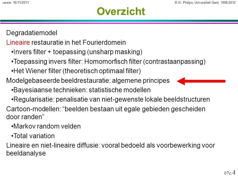 © W. Philips, Universiteit Gent, 1998-2012versie: 16/11/2011 07c.