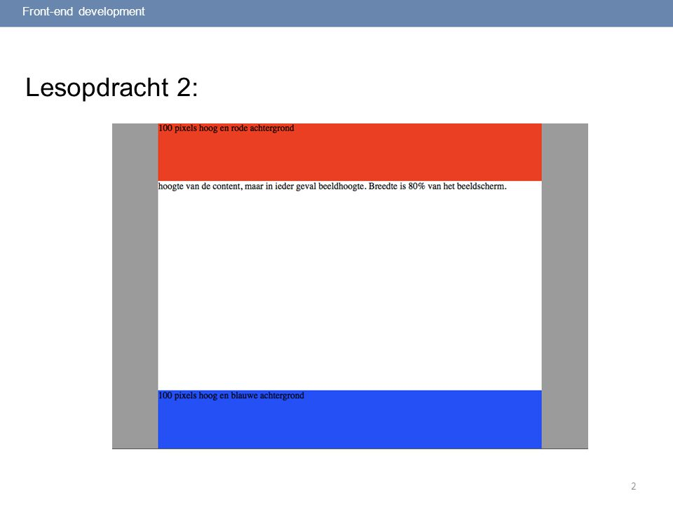 2 Lesopdracht 2: Front-end development
