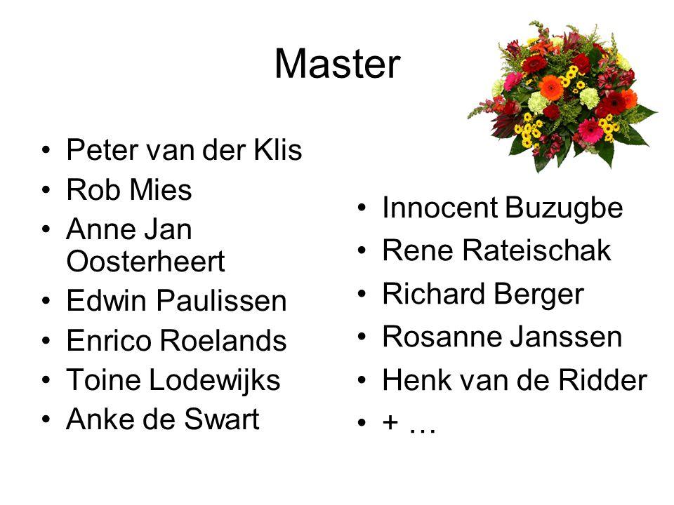 Huldiging afgestudeerden Bachelor Informatica Mirjam van Es-Luhrs Master Computer Science Marco Marcellis Ivo Klinkert