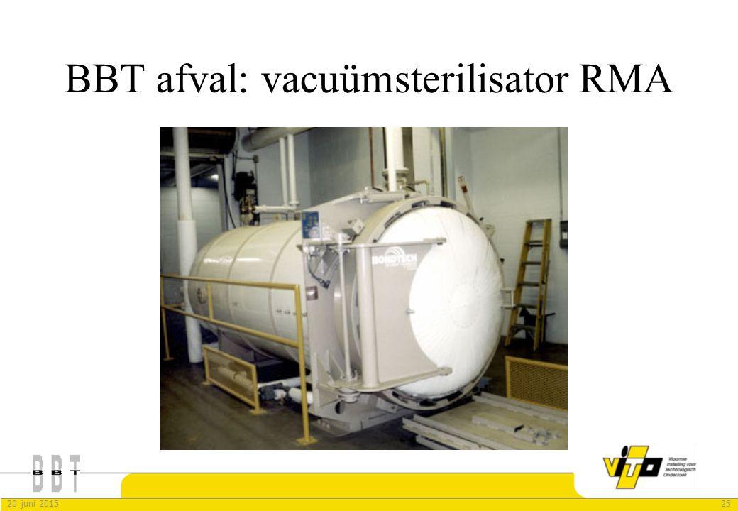 2520 juni 2015 BBT afval: vacuümsterilisator RMA
