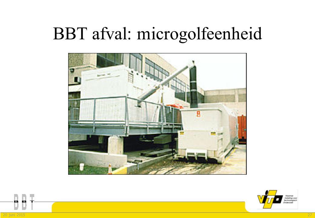 2720 juni 2015 BBT afval: microgolfeenheid
