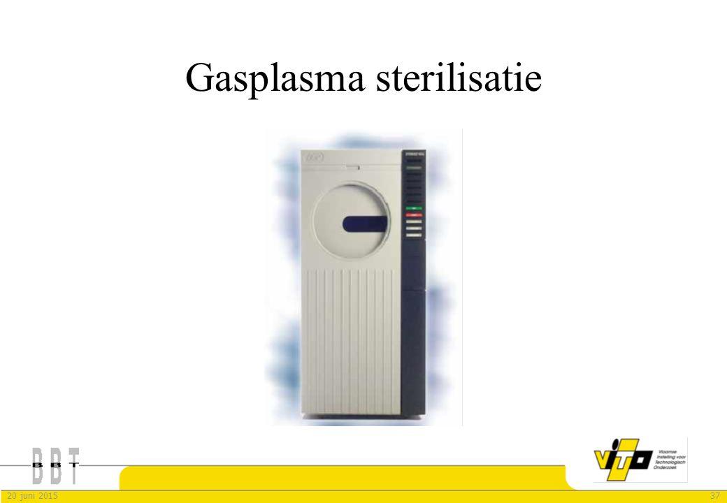 3720 juni 2015 Gasplasma sterilisatie