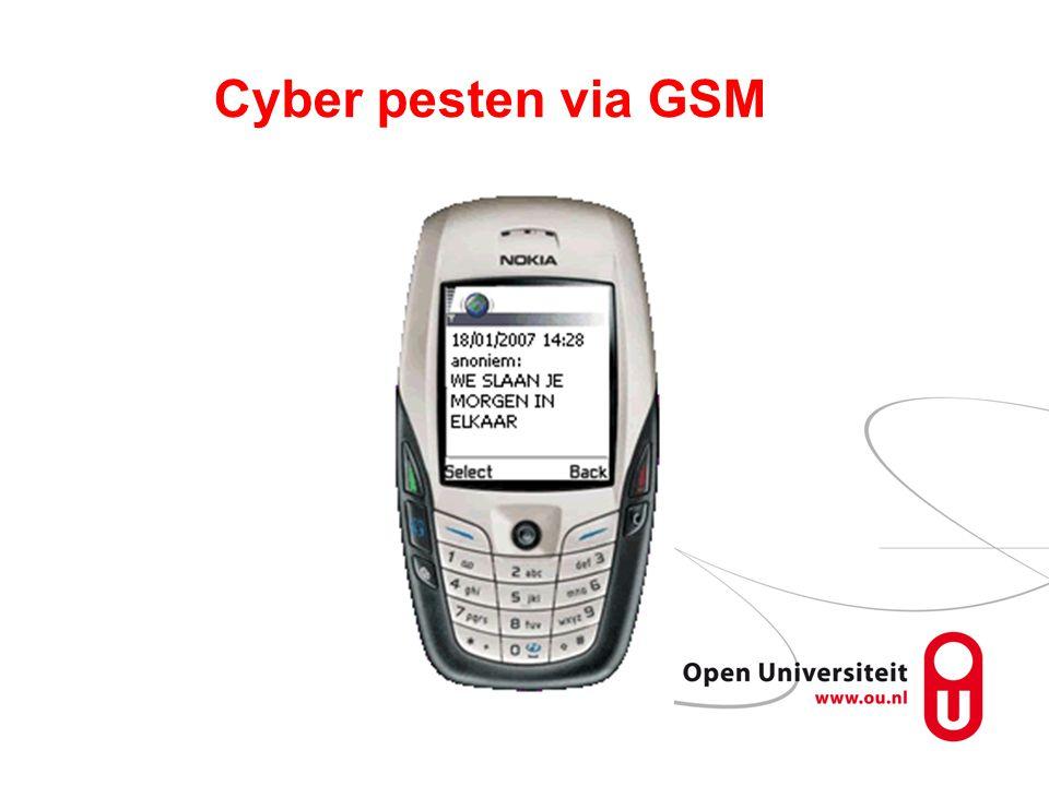 Cyber pesten via GSM