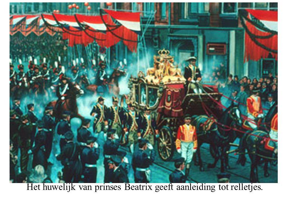 Het huwelijk van prinses Beatrix geeft aanleiding tot relletjes.